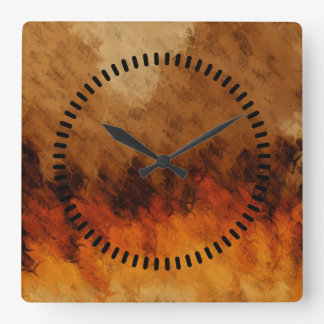 Autumn Twilight Square Wall Clock