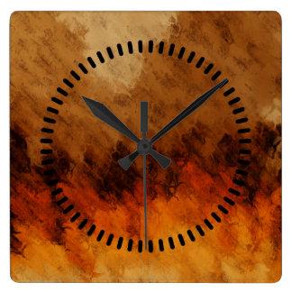 Autumn Twilight Square Wall Clocks