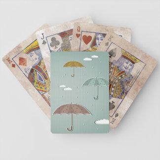 Autumn Umbrellas Bicycle Playing Cards