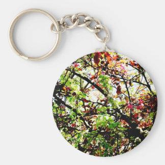 Autumn Underneath Basic Round Button Keychain