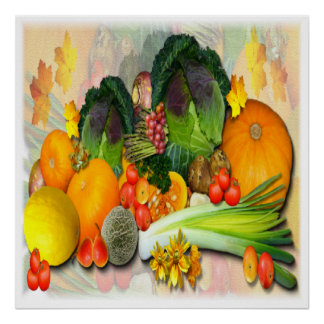 AUTUMN VEGETABLES ~ Print/Poster Poster