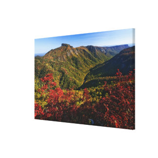 Autumn view of Linville Gorge often called the Canvas Print