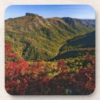 Autumn view of Linville Gorge often called the Drink Coaster