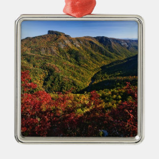 Autumn view of Linville Gorge often called the Metal Ornament