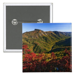 Autumn view of Linville Gorge often called the Pinback Button