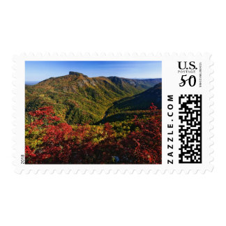 Autumn view of Linville Gorge often called the Postage