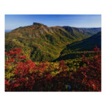 Autumn view of Linville Gorge often called the Poster