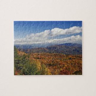 Autumn view of Southern Appalachian Mountains Jigsaw Puzzle