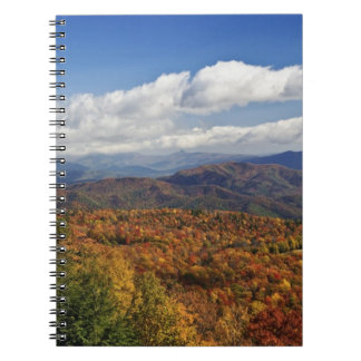 Autumn view of Southern Appalachian Mountains Note Book