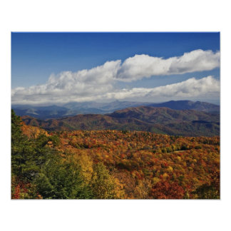 Autumn view of Southern Appalachian Mountains Poster