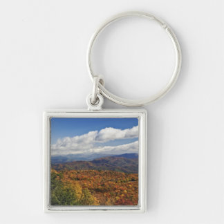 Autumn view of Southern Appalachian Mountains Silver-Colored Square Keychain
