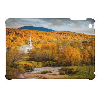 Autumn View Of The Community Church In Stowe iPad Mini Covers