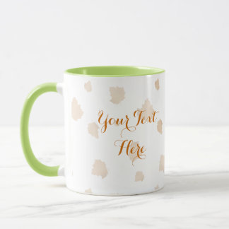 Autumn Vine Pumpkin with Customizable Text Mug