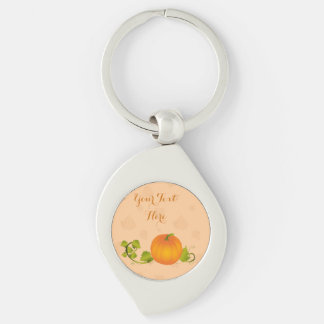 Autumn Vine Pumpkin with Customizable Text Key Chains