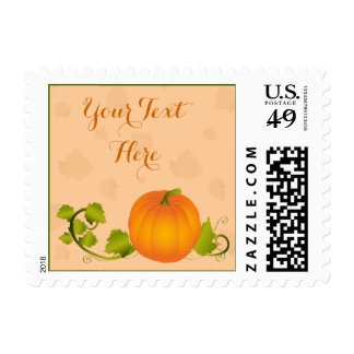 Autumn Vine Pumpkin with Customizable Text Postage