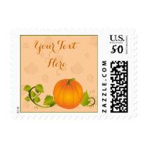 Autumn Vine Pumpkin with Customizable Text Postage