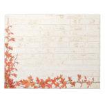 Autumn Vine Wedding Memo Pad