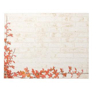 Autumn Vine Wedding Note Pad