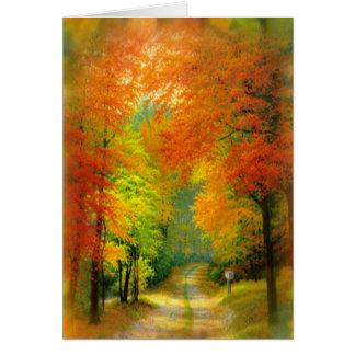 Autumn Walk Card