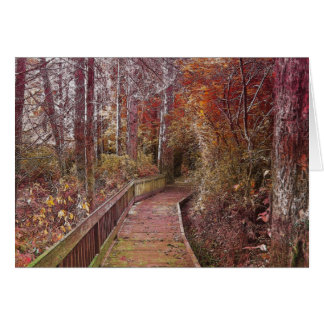 Autumn Walk Greeting Cards
