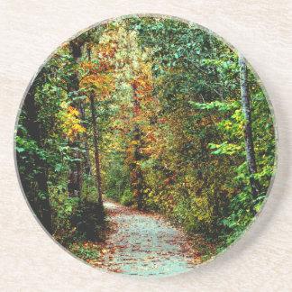 Autumn Walk Beverage Coaster