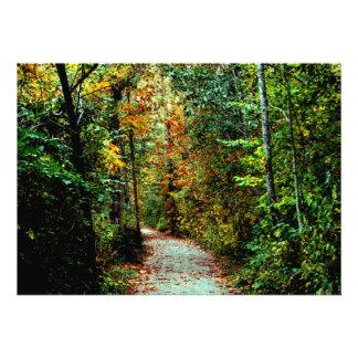 Autumn Walk Custom Announcements