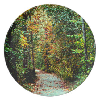Autumn Walk Melamine Plate