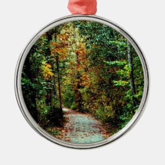 Autumn Walk Metal Ornament