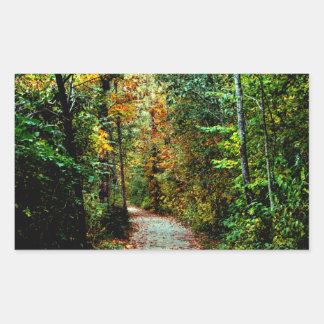 Autumn Walk Rectangular Sticker