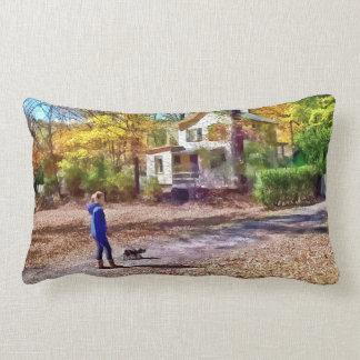 Autumn - Walking the Dog Pillows