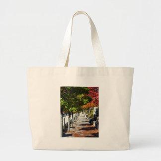 Autumn Walkway Jumbo Tote Bag