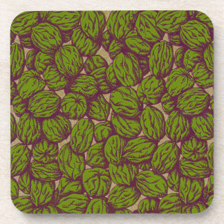 Autumn Walnut Pattern Drink Coaster