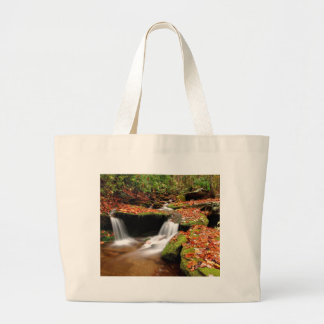 Autumn Water Falls Large Tote Bag