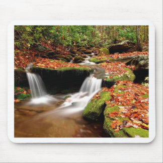 Autumn Water Falls Mouse Pad