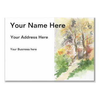 Autumn watercolor large business card