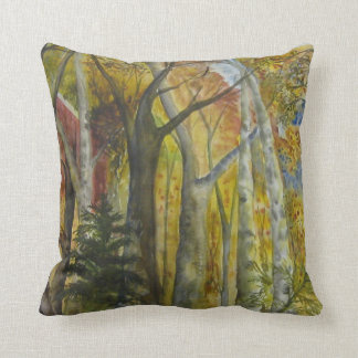 Autumn Watercolor Pillow