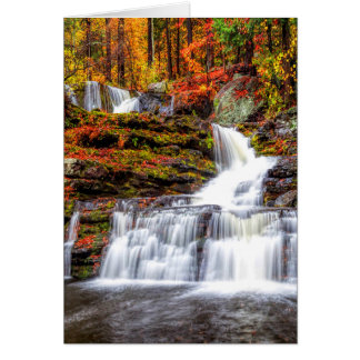 Autumn Waterfall Card