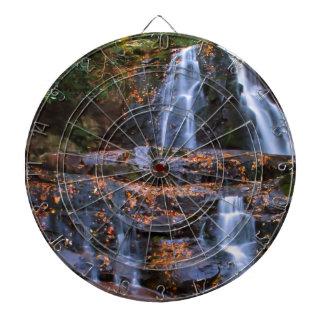 Autumn Waterfall Dartboard With Darts