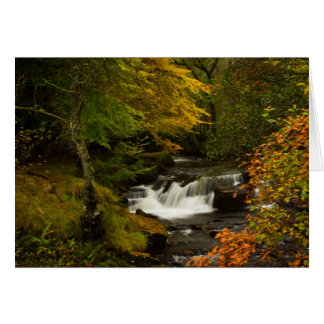 Autumn Waterfall Greetings Card