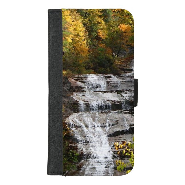 Autumn Waterfall iPhone 8/7 Plus Wallet Case
