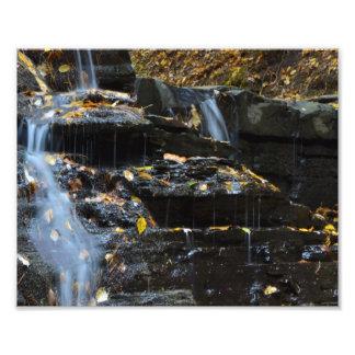AUTUMN WATERFALL PHOTO PRINT