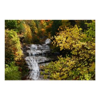 Autumn Waterfall print