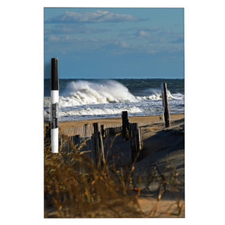 Autumn Waves and Dunes at the Beach Dry Erase Board