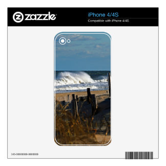 Autumn Waves and Dunes at the Beach iPhone 4 Decal