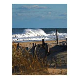 Autumn Waves and Dunes at the Beach Letterhead