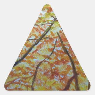autumn way triangle sticker