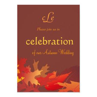 "Autumn Wedding Celebration Invitation 5"" X 7"" Invitation Card"