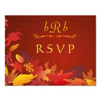 "Autumn Wedding Celebration - RSVP 4.25"" X 5.5"" Invitation Card"