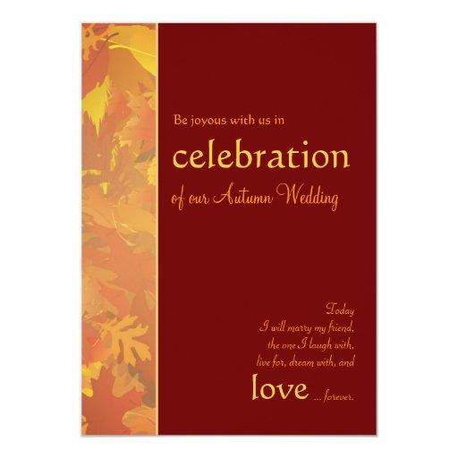 Autumn Wedding - Contemporary Wedding Invitations