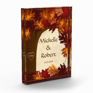 Autumn Wedding Custom Oak Tree Award